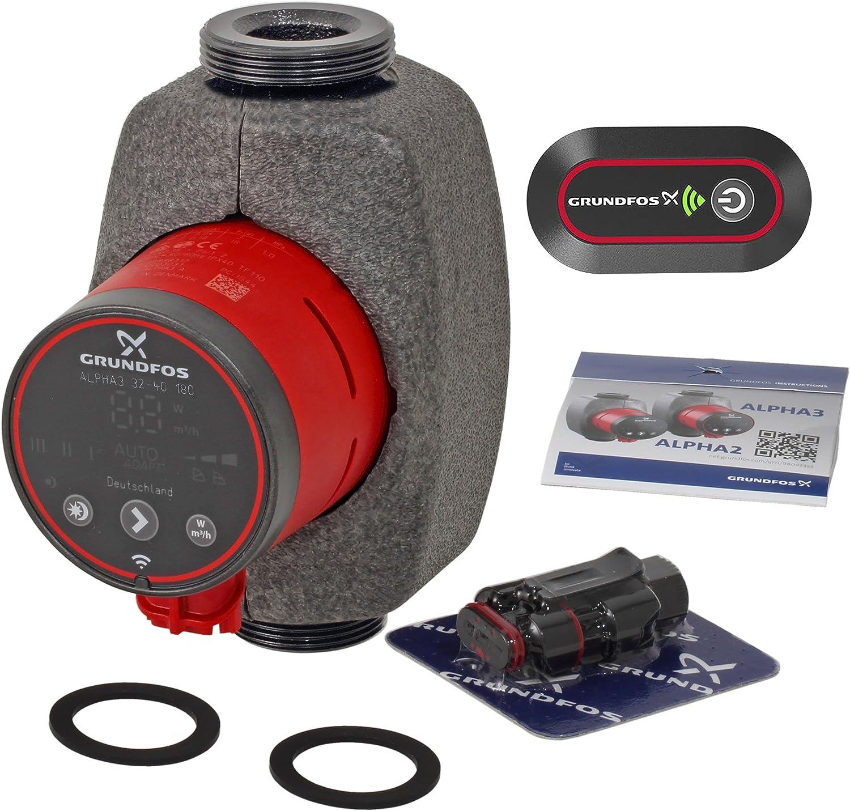 Grundfos Alpha 3 Hocheffizienz-Umw/älzpumpe 32-40 180 mm