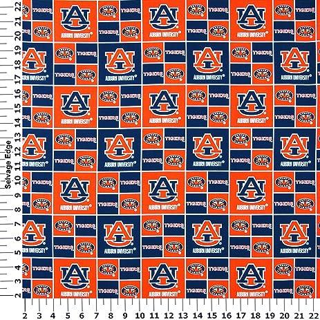Amazon.com: Auburn University Tigers Cotton Fabric, Burnt Orange ...