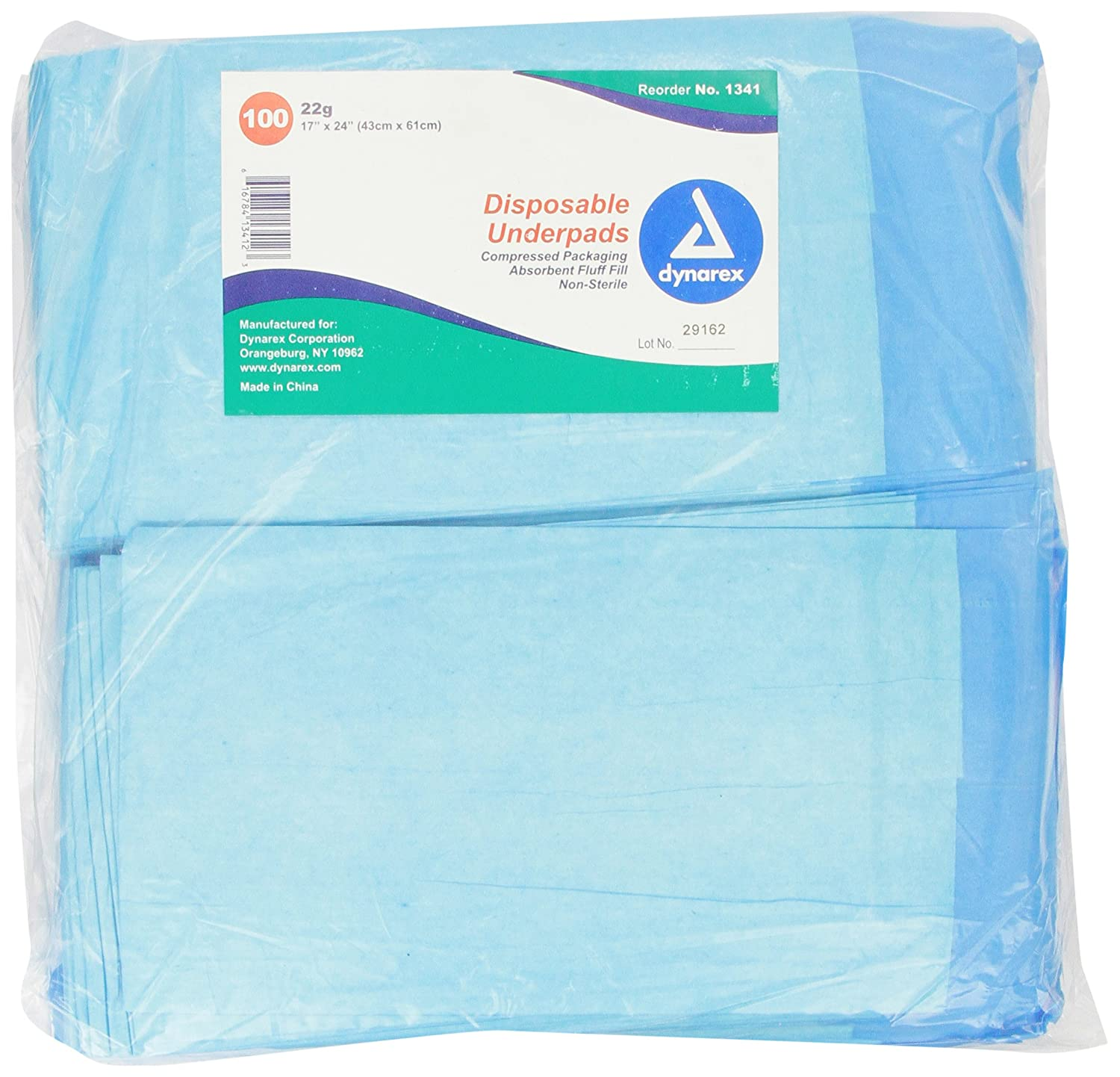amazon com dynarex disposable underpad 17 inches x 24 inches 100