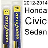 Honda Civic Sedan (2012-2014) Wiper Blade Kit - Set Includes 26