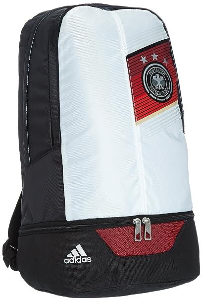 adidas - Mochila de la selección alemana de fútbol 2014, color negro y blanco blanco