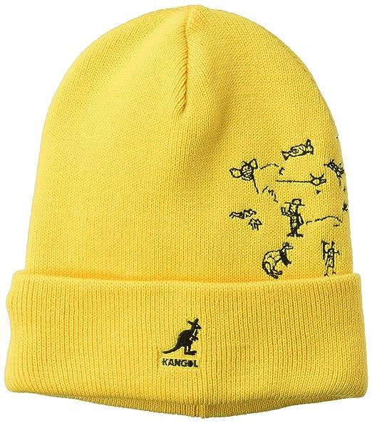 6b69cfe27 Kangol Men's Rock Art Rev Beanie Pull on Hat, Gold, 1SFM: Amazon.co ...