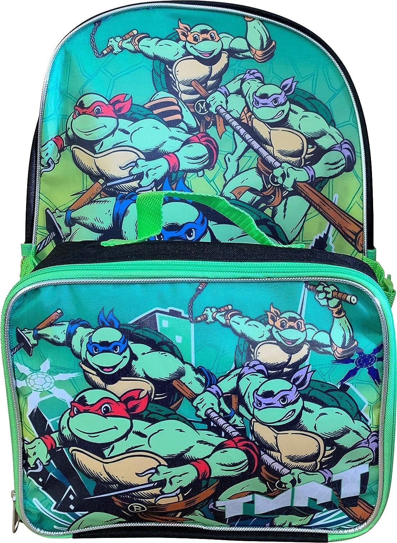 "Nickelodeon TMNT Ninja Turtles 16"" Backpack With Detachable Matching Lunch Box"