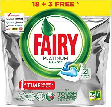 Fairy Platinum Original Detergente - 21 cápsulas: Amazon.es ...