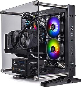 Thermaltake LCGS P-101 AIO Liquid Cooled CPU Gaming PC (AMD RYZEN 5 3600X 3.8Ghz, TOUGHRAM DDR4 3200Mhz RGB 16GB, RTX 2060 Super 8GB, Gen4 M.2 1TB, WiFi, Win 10 Pro) P1BK-X570-AP1-LCS