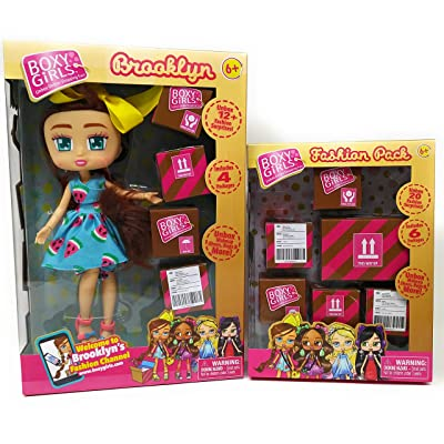 Dolls Kids Little Toddlers Girls Play Indoor Playtime BoxyGirls Brooklyn And Fashion Pack: Toys & Games