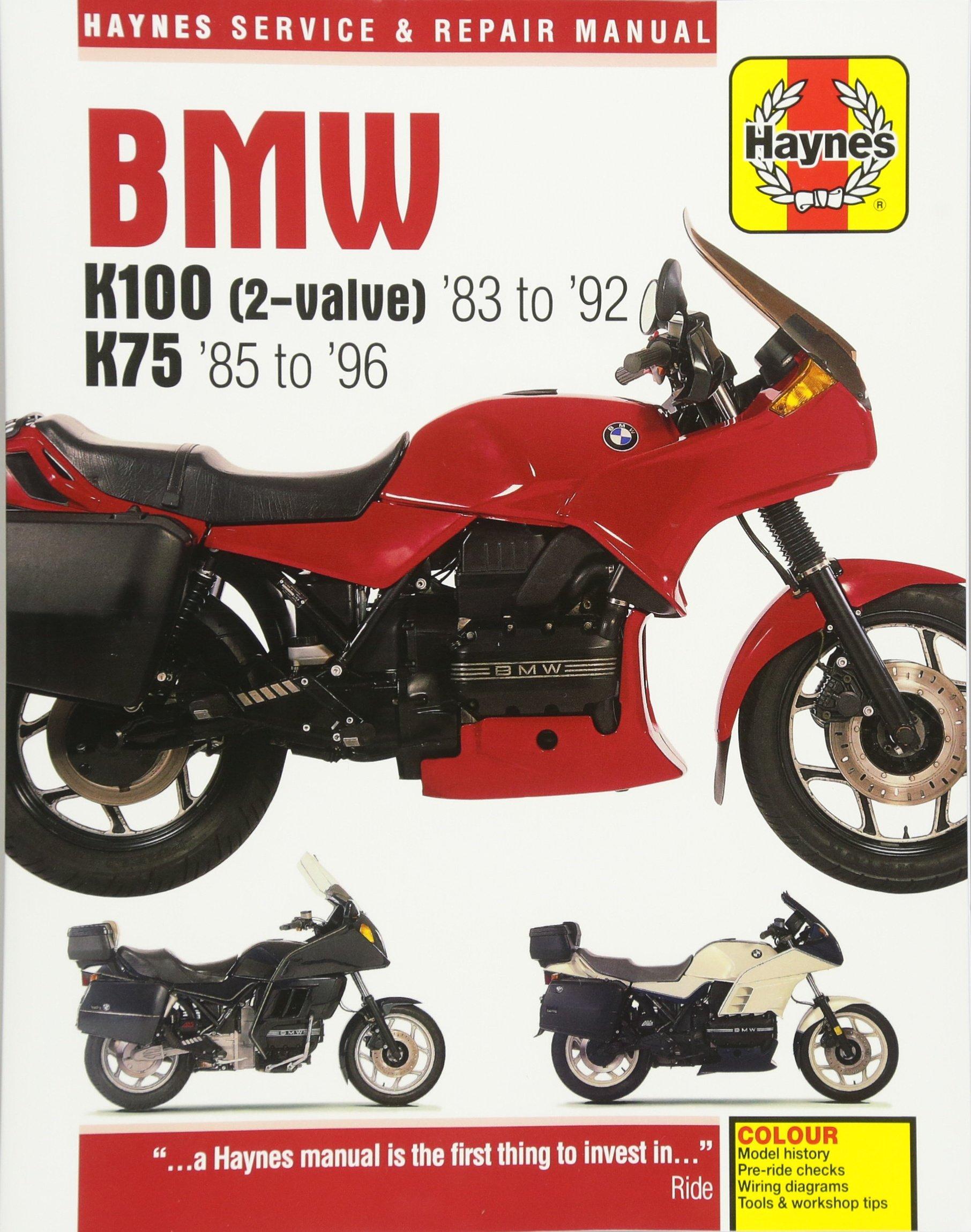 bmw k100 (2 valve) '83 to '92 k75 '85 to '96 (haynes service 1985 bmw r80rt bmw k100 (2 valve) '83 to '92 k75 '85 to '96 (haynes service & repair manual) paperback may 1, 2016