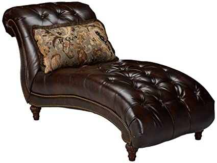ashley furniture signature design winnsboro chaise traditional vintage brown - Chaise Vintage