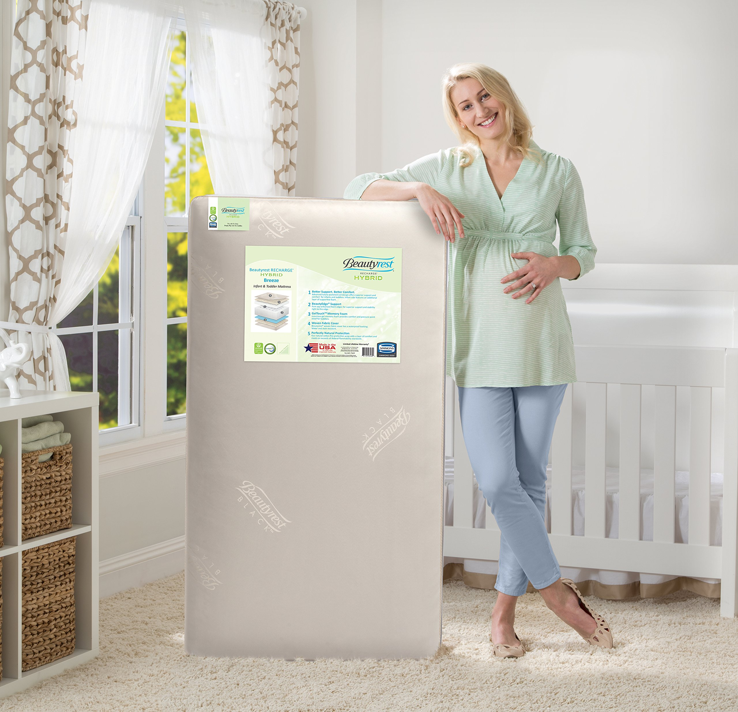 Simmons Kids Beautyrest Recharge Hybrid Breeze Crib and Toddler Mattress by Simmons Kids (Image #2)
