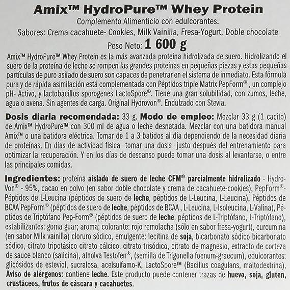 HYDROPURE WHEY CFM 1600 GR Doble-chocolate: Amazon.es: Salud ...