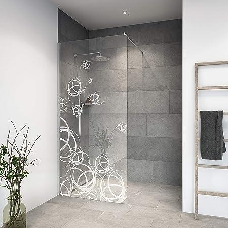 Mampara de ducha de vidrio templado con decoración LaserVision_005 ...