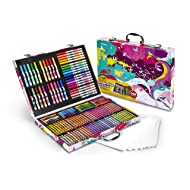 Crayola Inspiration Art Case in Pink, Portable Art & Coloring Supplies, 140 Pieces,