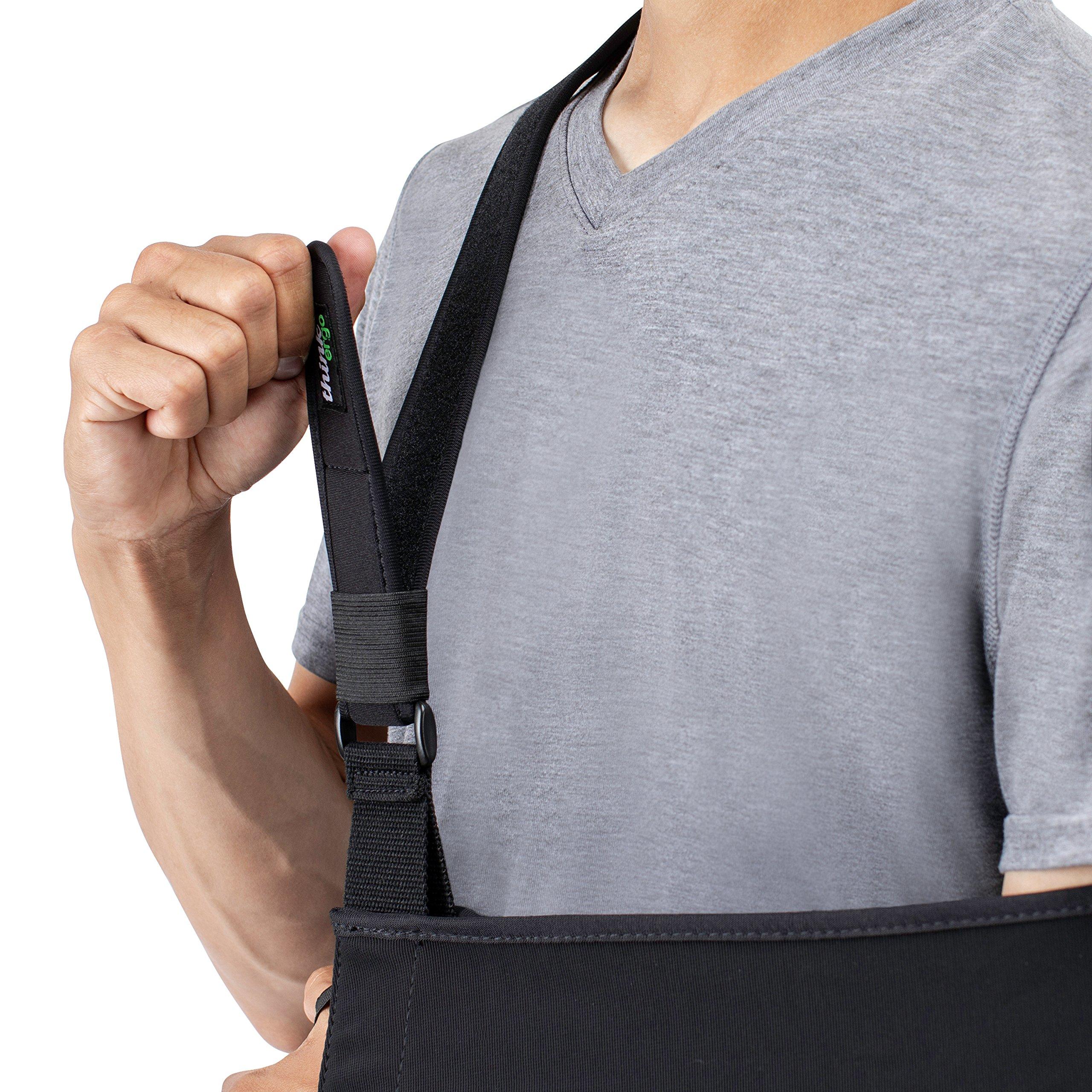 Think Ergo Arm Sling Sport - Lightweight, Breathable, Ergonomically Designed Medical Sling for Broken & Fractured Bones - Adjustable Arm, Shoulder & Rotator Cuff Support (Adult) by Think Ergo (Image #8)