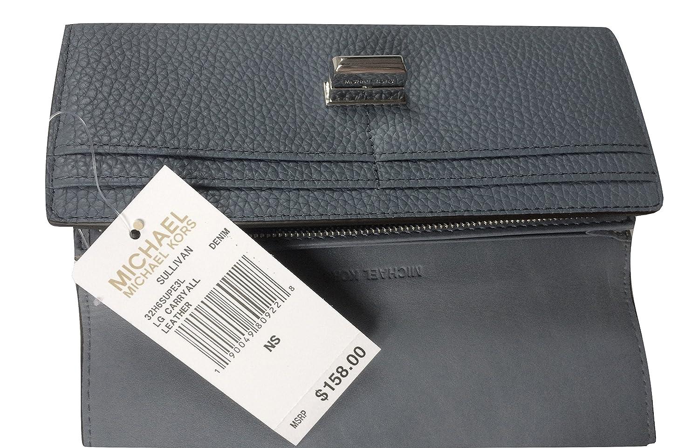 9b70d24531fe Amazon.com: MICHAEL Michael Kors Sullivan Large Leather Carryall Wallet,  32H6SUPE3L DENIM: Shoes