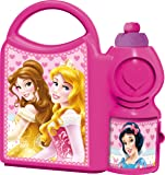 Disney Princess School Canteen Set, Lunch Box with Sipper Bottle, 500 ml, Pink