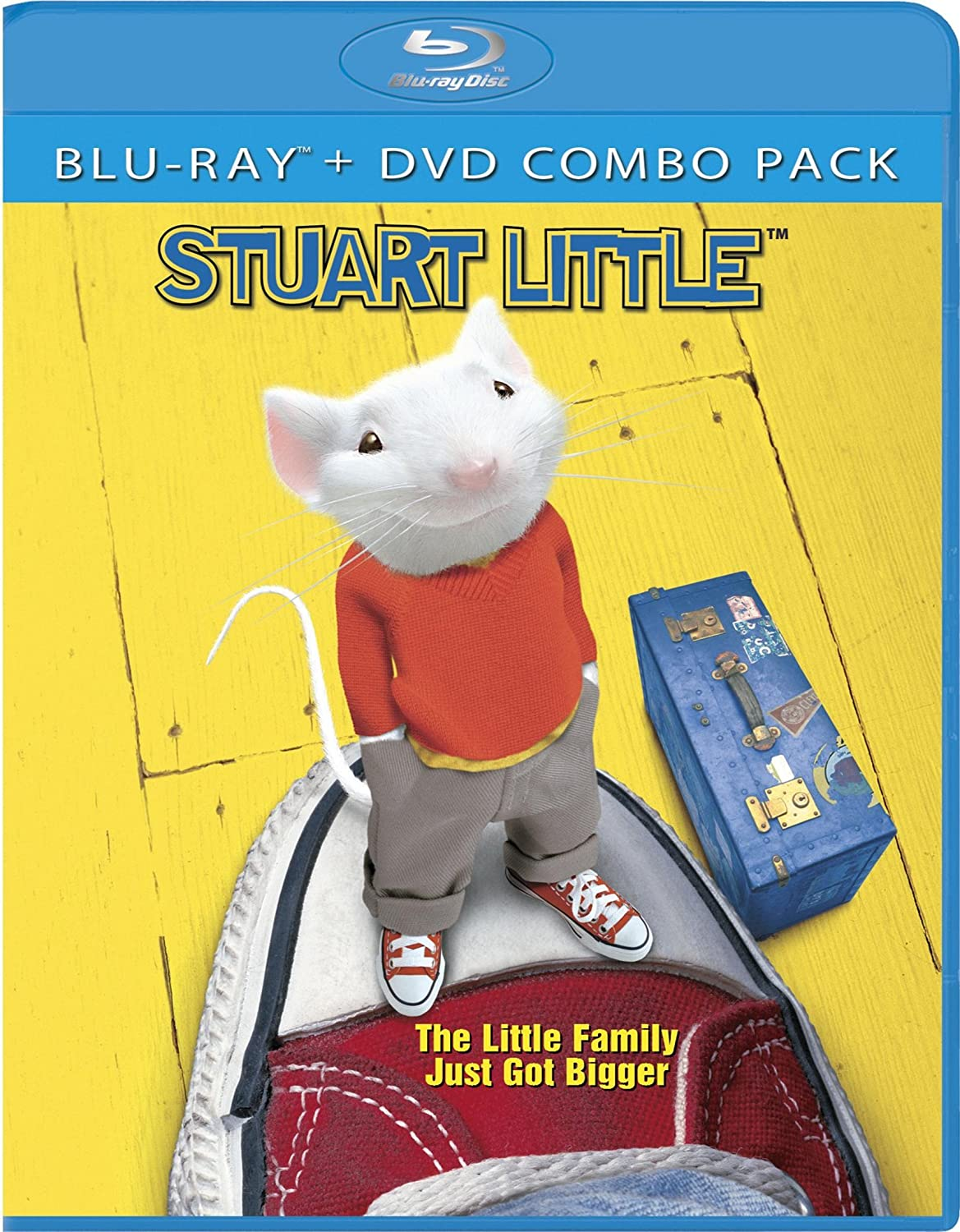 Amazon Com Stuart Little Two Disc Blu Ray Dvd Combo Geena Davis Hugh Laurie Jonathan Lipnicki Rob Minkoff Douglas Wick Red Wagon Entertainment Movies Tv