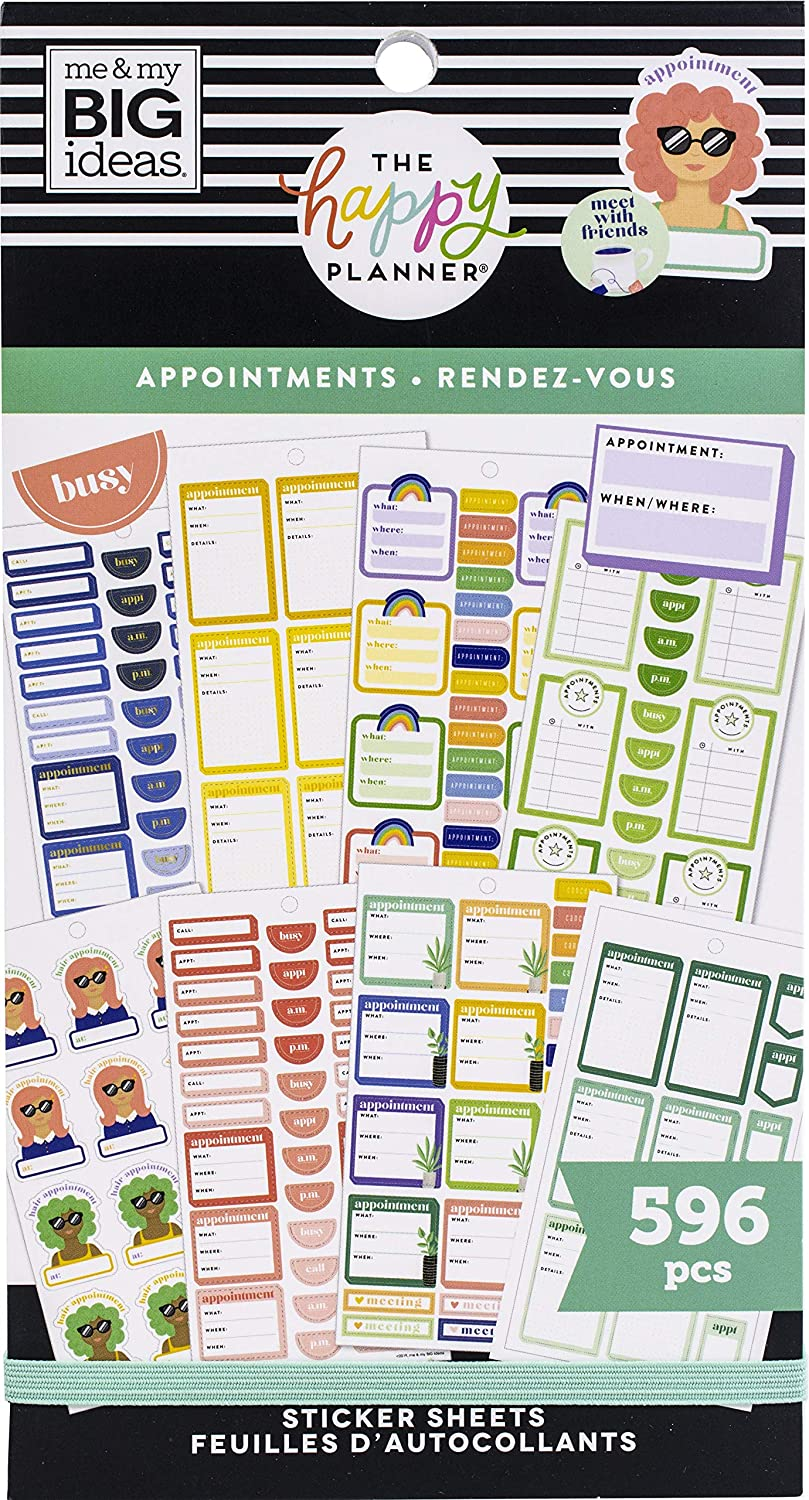 The Happy Planner Value Pack Stickers Appointments