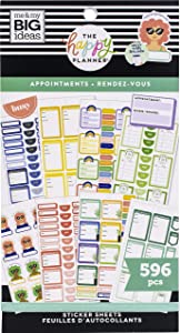 The Happy Planner Sticker Value Pack - Scrapbooking Accessories - Appointments Theme - Multi-Color - Great for Planning, To Do Lists, Projects, Scrapbooks & Albums - 30 Sheets, 596 Stickers Total