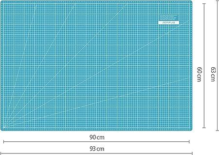 Stoffklammern Ersatzklingen T/ürkis//Mint, nur Schneidematte Patchwork-Lineal Schneideunterlage Honeys Heaven 45 mm Rollschneider Stoffschneider Set inkl