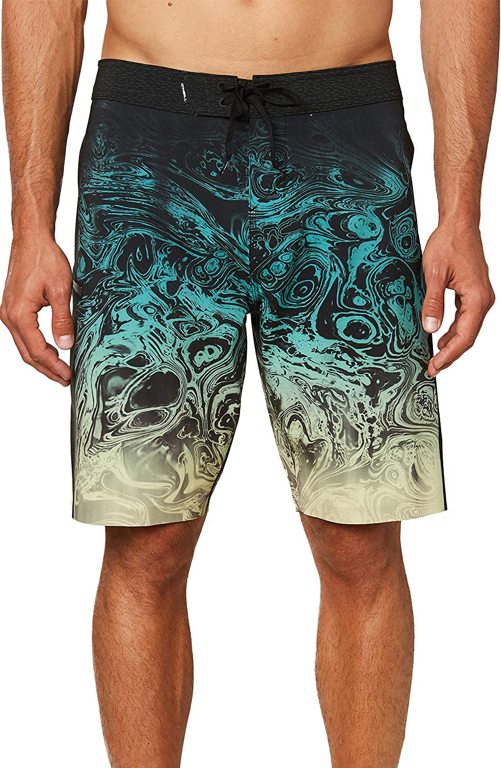 ONEILL Mens Water Resistant Hyperfreak Stretch Swim Boardshorts 20 Inch Outseam Mid-Length Swimsuit