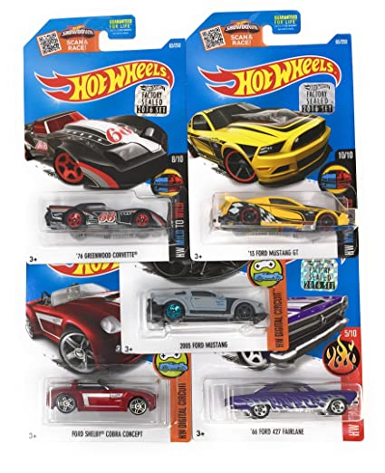 Amazon Com Hot Wheels Muscle Car Madness 5 Pack Random Diecast