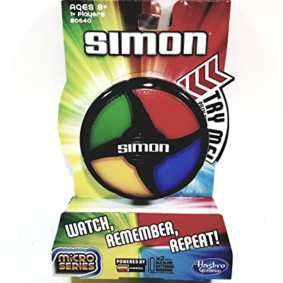 Basic Fun Simon Micro Series Edition Pocket Travel Handheld Portable Strategy 1 Or More Player Game: Toys & Games