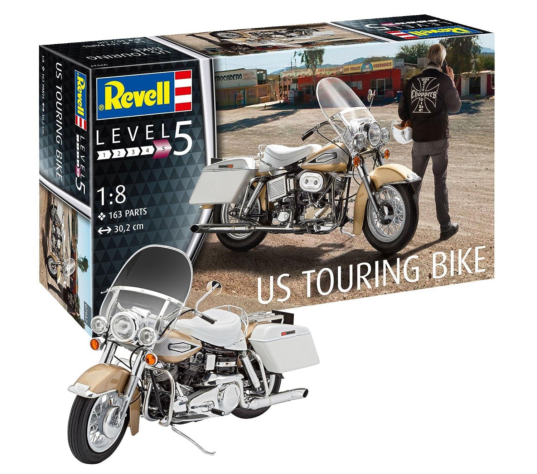 Revell- Maqueta de Motocicleta US Touring Bike, Kit Modelo ...