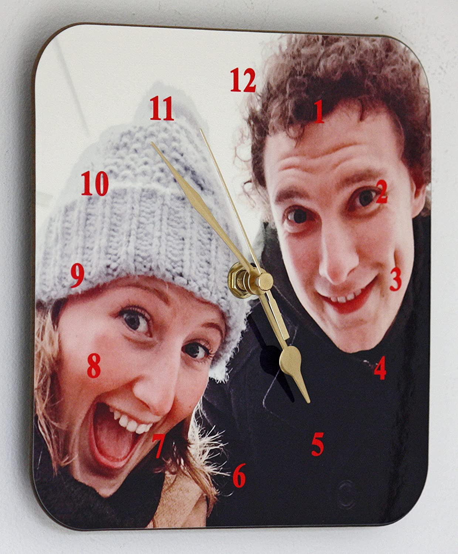 Put your favourite photo on a Wall Clock 19cm x 19cm Selfie Clock