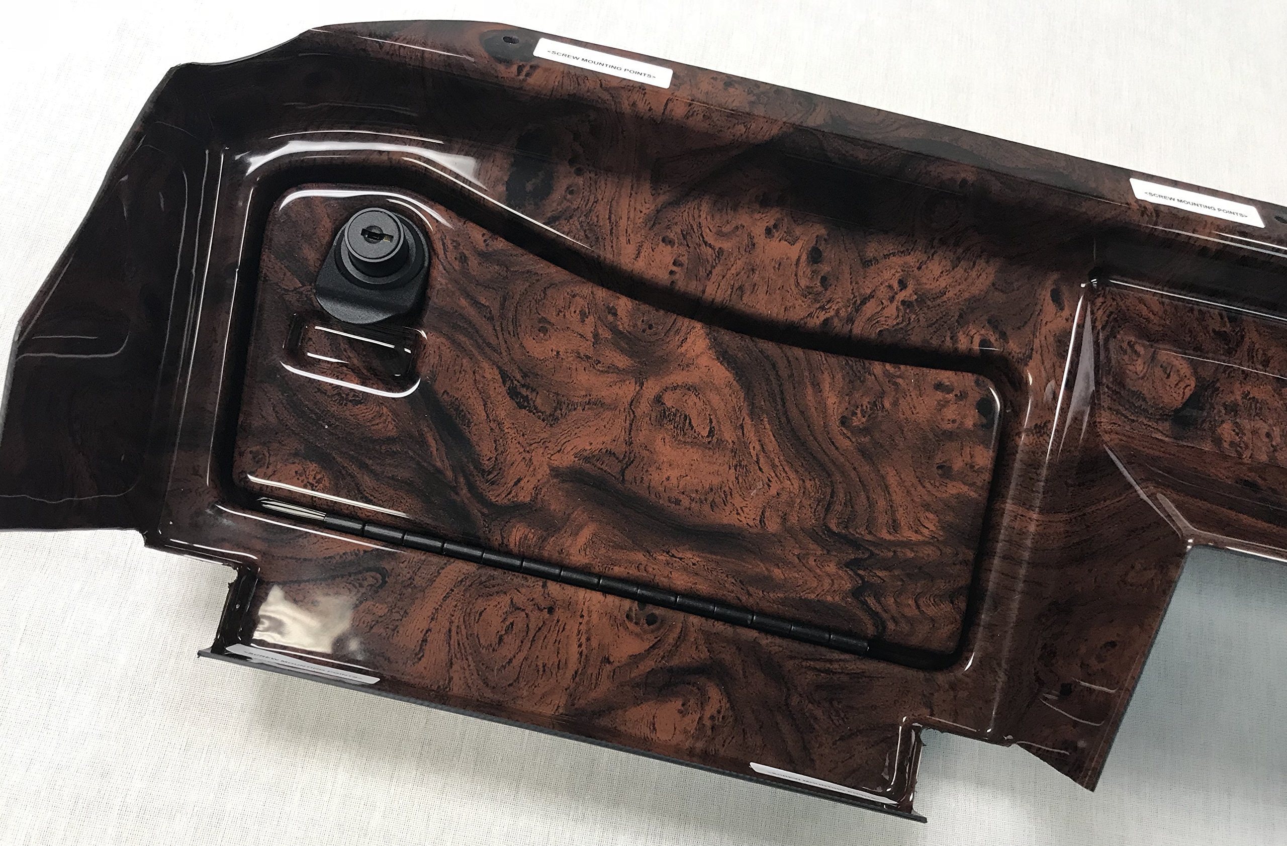 Simulated Dark Burled Woodgrain Full Golf Cart Dash to fit E-Z-Go RXV 1st Generation Cart (Will NOT FIT New 2ND Generation CART) Includes 3 Hole Gauge Trim Plate
