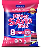 Vacuum Storage Bags (8pack 100 x 80CM ) Premium Reusable Space Saver Compression Sealer Bags* Jumbo Extra Large XL size for clothing bedding blankets!+ FREE Hand-Pump for Travel