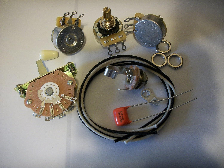 Blender Wiring Harness Kit For Strat CTS Oak Switchcraft .022uf Orange Drop