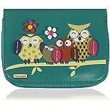 KukuBird Owl Family Tree Pattern Medium Size Damen Clutch Geldbörse