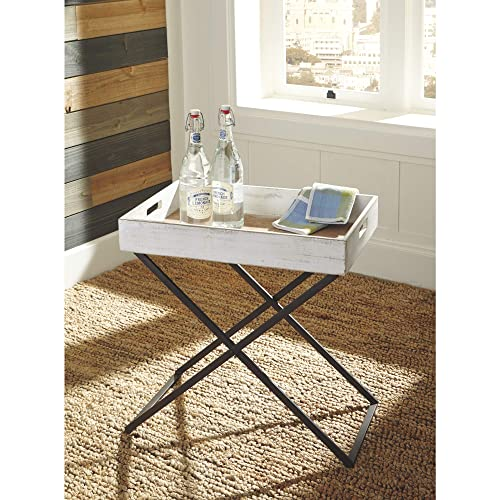 Signature Design by Ashley A4000110 Accent Table, Janfield White
