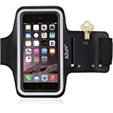 iPhone 6s Armband,iPhone 6 Armband,by Ailun,Feartured with Sport Scratch-Resistant Material,Slim Light Weight,Dual Arm-Size Slots,Sweat Resistant&Key Pocket,with Headphone Ports[Black]