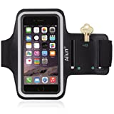 iPhone 7 plus Armband,by Ailun,Feartured with Sport Scratch-Resistant Material,Slim Light Weight,Dual Arm-Size Slots,Sweat Resistant&Key Pocket,with Headphone Ports[BLACK]