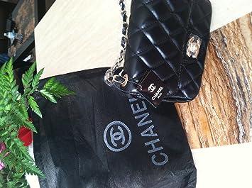 492a21b4cd Amazon.com : Authentic Chanel Lamb Skin Blacks 25 Double Flap 2.55 Chain  Shoulder Bag Purse (2.55, black) : Cosmetic Tote Bags : Beauty