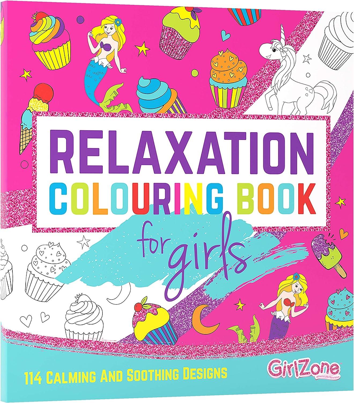Regalos para Niñas -Libro Para Colorear-114 Hermosos Diseños Zen, Libros Colorear Niños, Libreta De Colorear Relajante Para Niñas, Colouring Book 3 a 12 Años