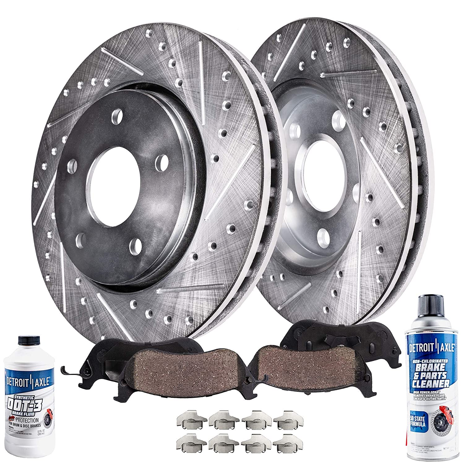 Fits 2003-2006 Subaru Baja Front Drill /& Slot Brake Discs Rotors /&Ceramic Pads