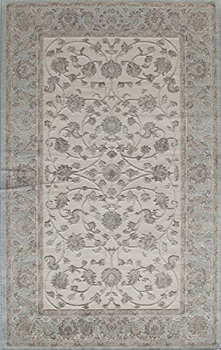 Rugs America Area Rug, 8-ft 0-in x 10-ft 0-in, Ivory Blue