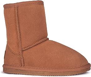 15b27784b997d Rjs Fuzzies Kids Boots by Cloud Nine Sheepskin Lined with Sheepskin in  Chestnut