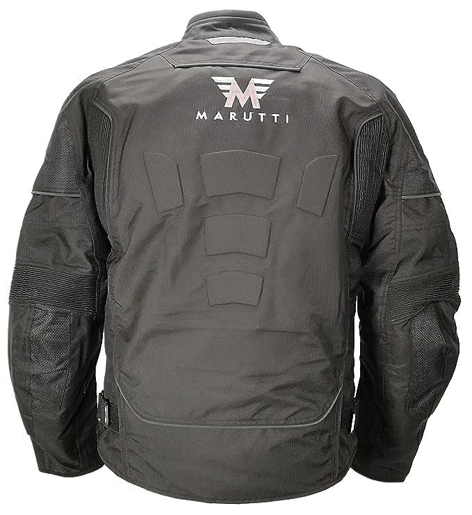 b866c4d2a76 MARUTTI Chaqueta de Motocicleta de Moto para Hombre, Impermeable,  Respirable, Armadura Protección, con ventila Motocicleta, en Negro XL:  Amazon.es: Ropa y ...