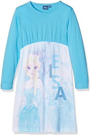 2e0332b928c87 Disney Frozen Nightdress Chemise de Nuit Fille Bleu (Blue) 2 Ans (Taille  Fabricant  2) Lot de  Amazon.fr  Vêtements et accessoires