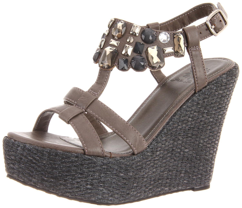 Yellow Box Women's Naila Wedge Sandal B007N74CHK 10 B(M) US|Grey