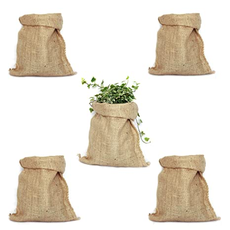 Pack 5 Sacos de Yute 100% Natural. Bolsas Ecológicas ideales ...