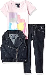 42ce7034bc8156 Limited Too Girls' Fashion Top, Vest and Pant Set (More Styles Available)