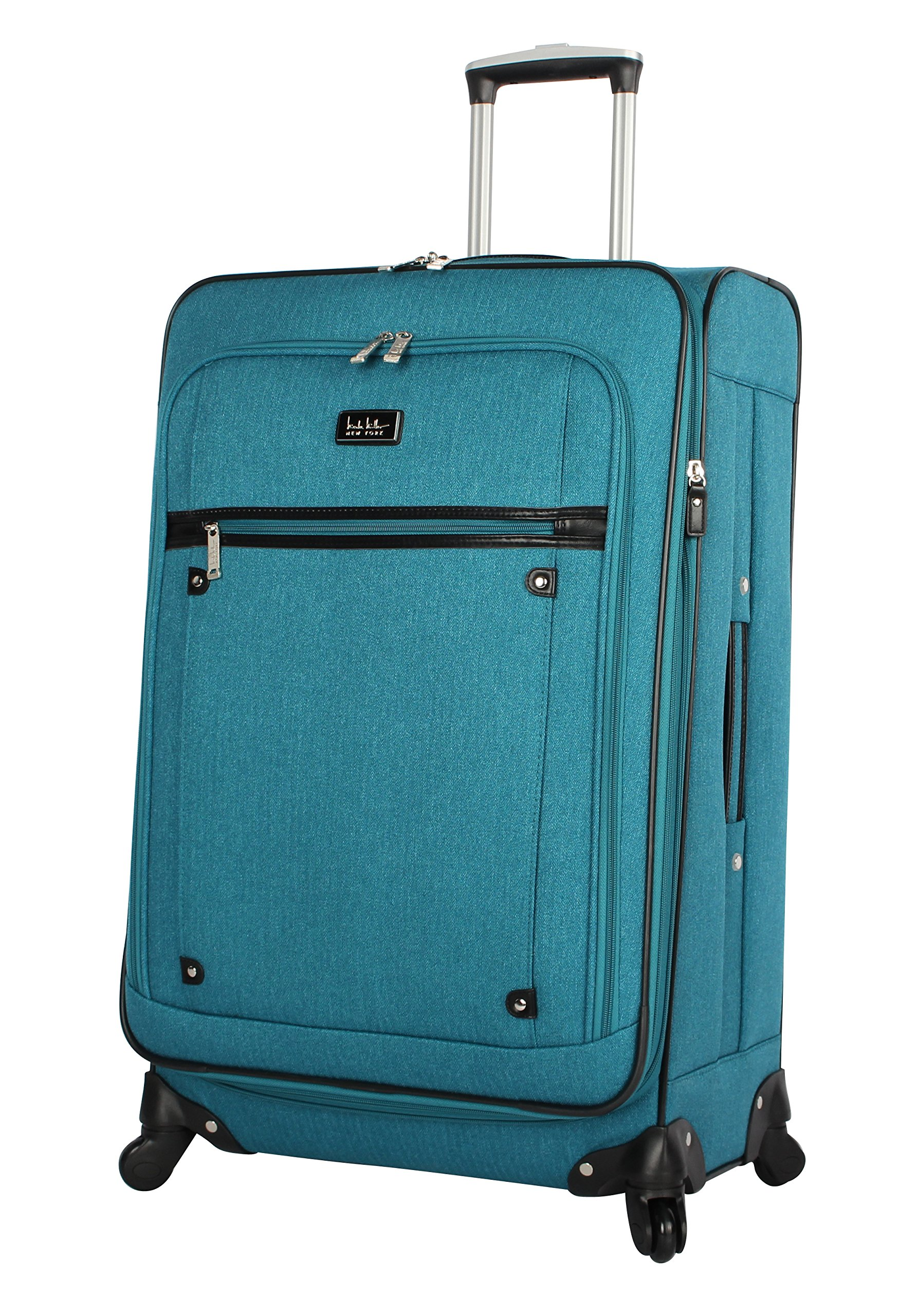 Nicole Miller New York Rosalie Collection 20'' Expandable Luggage Spinner (Teal)