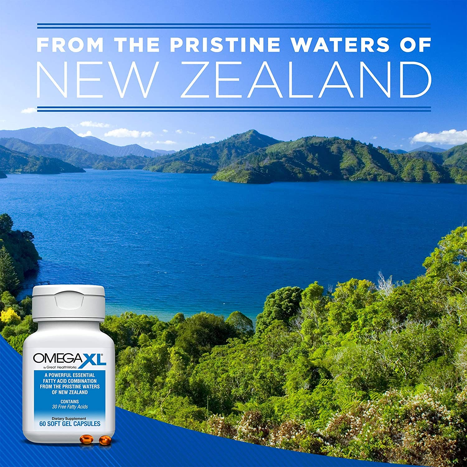 Omega XL 60 Capsules - Green Lipped Mussel New Zealand, Omega 3 Natural  Joint Pain Relief &