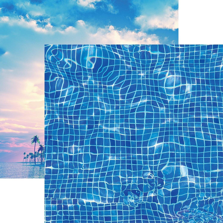 Reminisce Cartulina de Doble Cara para Vacaciones Todo Incluido, 30,5 x 30,5 cm