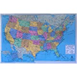 "Artistic 40""x27"" USA Political Map Laminated"