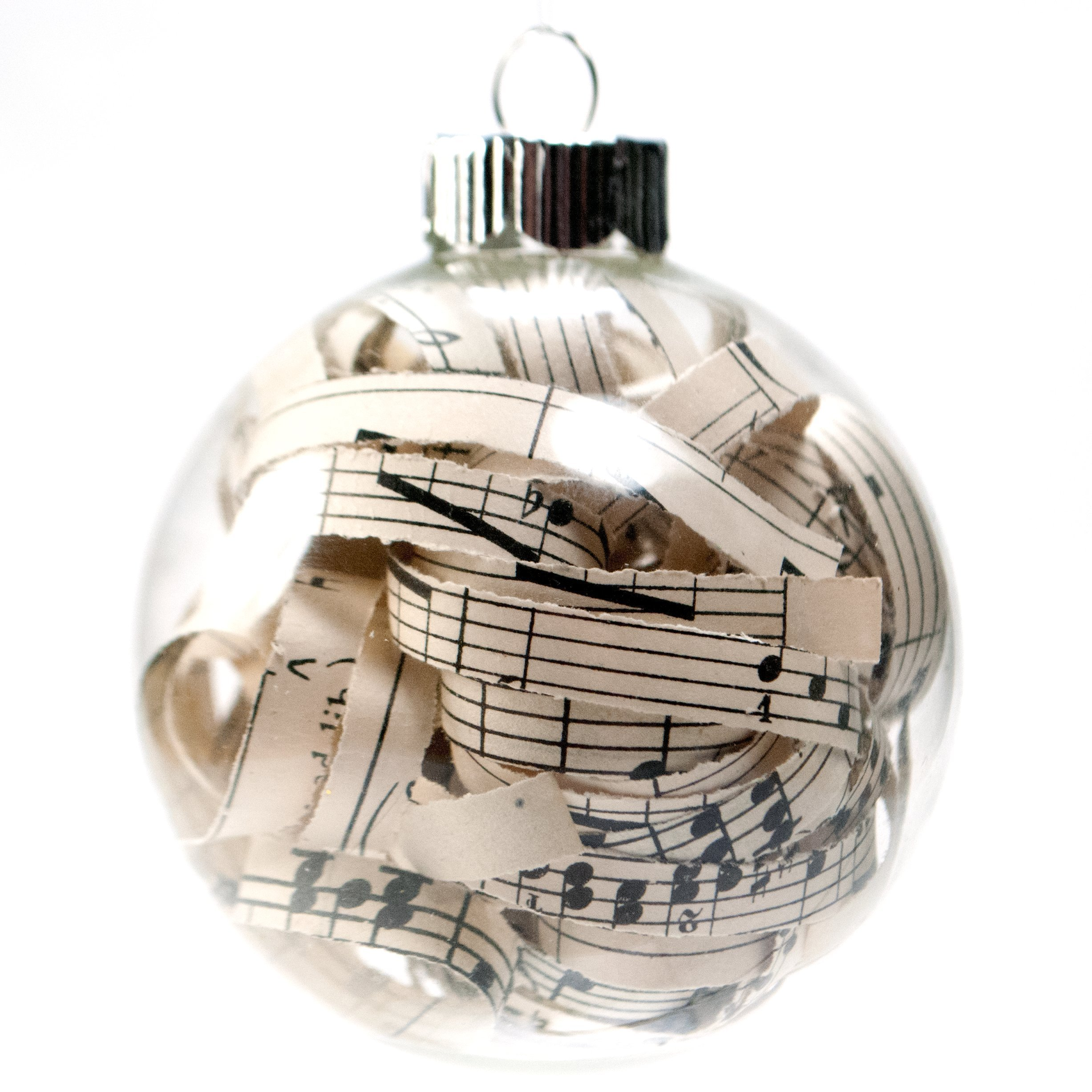 vintage sheet music christmas ornament 262 inch glass ornament with 14 inch strips - Cool Things To Get For Christmas